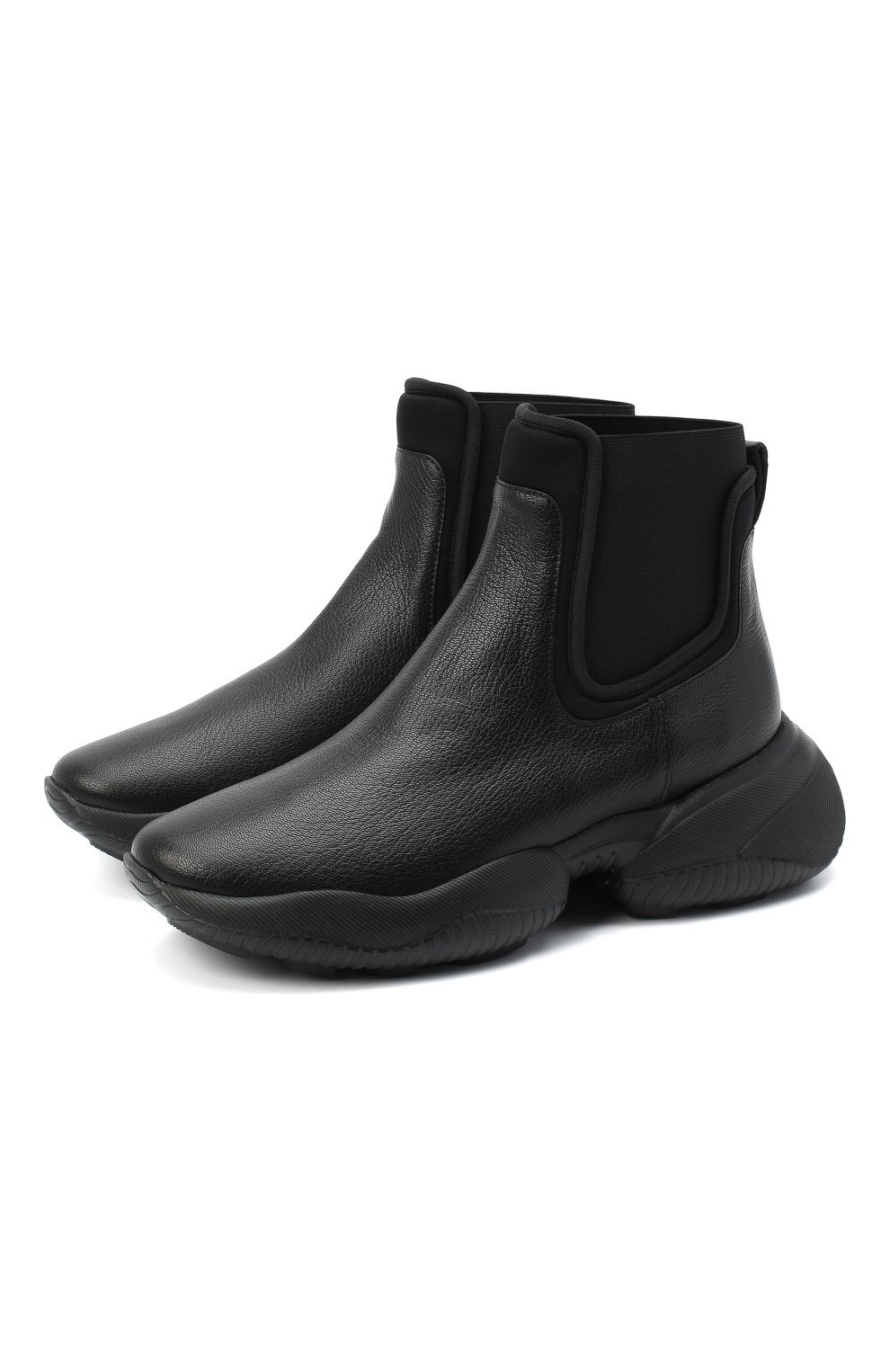 Женские кожаные ботинки HOGAN черного цвета, арт. HXW5250DC400FP | Фото 1