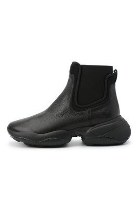Женские кожаные ботинки HOGAN черного цвета, арт. HXW5250DC400FP | Фото 3