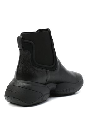 Женские кожаные ботинки HOGAN черного цвета, арт. HXW5250DC400FP | Фото 4