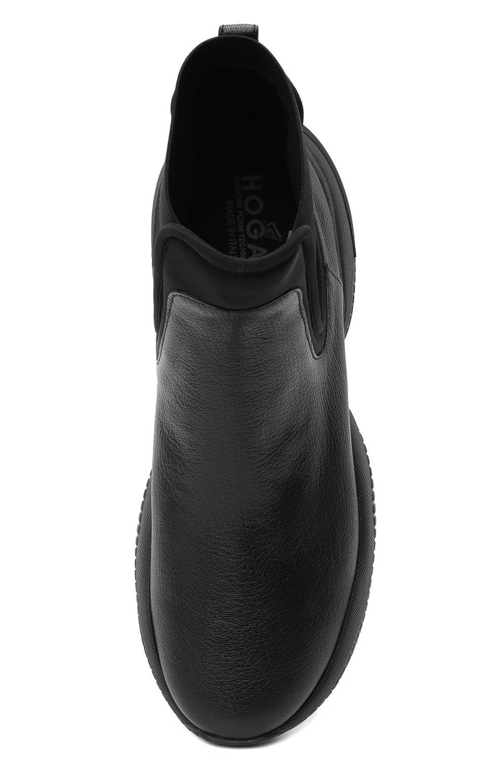 Женские кожаные ботинки HOGAN черного цвета, арт. HXW5250DC400FP | Фото 5
