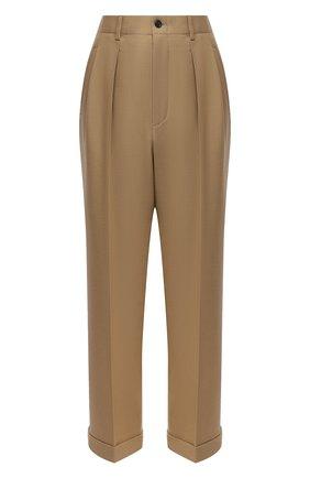 Женские шерстяные брюки SAINT LAURENT бежевого цвета, арт. 627259/Y404W | Фото 1