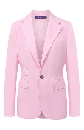 Женский кашемировый жакет RALPH LAUREN розового цвета, арт. 290626882 | Фото 1
