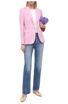 Женский кашемировый жакет RALPH LAUREN розового цвета, арт. 290626882 | Фото 2