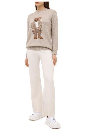 Женская кашемировый свитер RALPH LAUREN бежевого цвета, арт. 290816139 | Фото 2