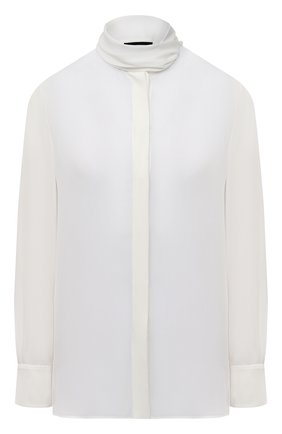 Женская шелковая блузка EMPORIO ARMANI белого цвета, арт. 9NC12T/92306 | Фото 1