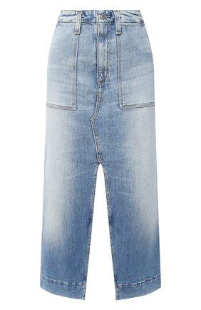 Женская джинсовая юбка AG голубого цвета, арт. JRN5550/23YREM | Фото 1