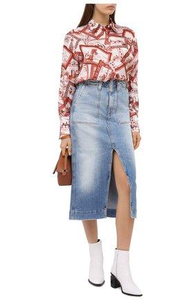 Женская джинсовая юбка AG голубого цвета, арт. JRN5550/23YREM | Фото 2