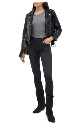 Женские джинсы AG серого цвета, арт. TVN1379/PSSR   Фото 2