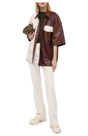 Женские вельветовые брюки DOROTHEE SCHUMACHER кремвого цвета, арт. 943303/SP0RTY LINES | Фото 2