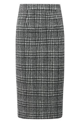 Женская шерстяная юбка TELA черно-белого цвета, арт. 11 5262 01 0114 | Фото 1