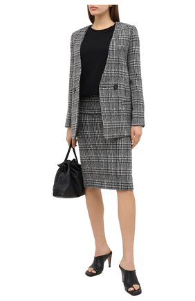 Женская шерстяная юбка TELA черно-белого цвета, арт. 11 5262 01 0114 | Фото 2
