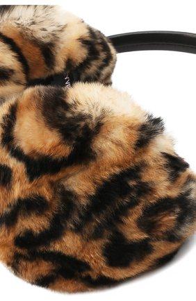 Женские наушники из меха кролика YVES SALOMON разноцветного цвета, арт. 8WAA819XXREXX | Фото 2