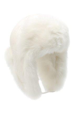 Женская меховая шапка YVES SALOMON белого цвета, арт. 21WAA125XXNY5W | Фото 1