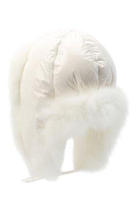 Женская меховая шапка YVES SALOMON белого цвета, арт. 21WAA125XXNY5W | Фото 2