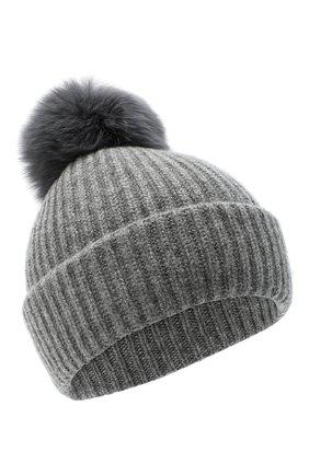 Женская кашемировая шапка YVES SALOMON светло-серого цвета, арт. 21WAA520XXCARD   Фото 1