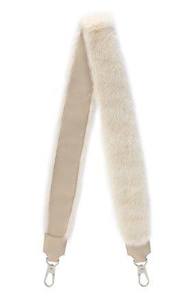 Женские ремень для сумки LORO PIANA белого цвета, арт. FAG4743 | Фото 1