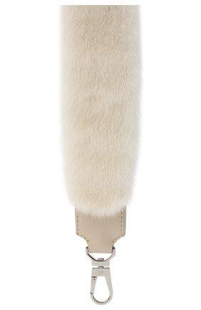 Женские ремень для сумки LORO PIANA белого цвета, арт. FAG4743 | Фото 2