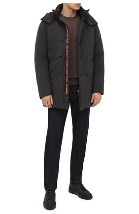 Мужские комбинированные кеды BARRETT темно-серого цвета, арт. CAR-10978.3/GUMMY | Фото 2