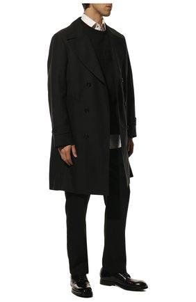 Мужской кожаные дерби DOLCE & GABBANA черного цвета, арт. A10610/A1203 | Фото 2