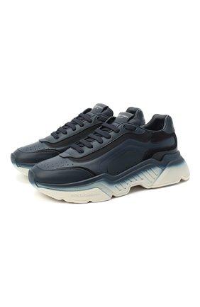 Мужские комбинированные кроссовки daymaster DOLCE & GABBANA синего цвета, арт. CS1805/AW178 | Фото 1