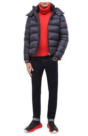 Мужская пуховая куртка arves MONCLER темно-синего цвета, арт. F2-091-1A201-00-53334 | Фото 2