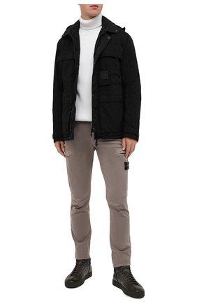 Мужские кожаные кеды SANTONI хаки цвета, арт. MBGL20851MIMRG0TV55   Фото 2
