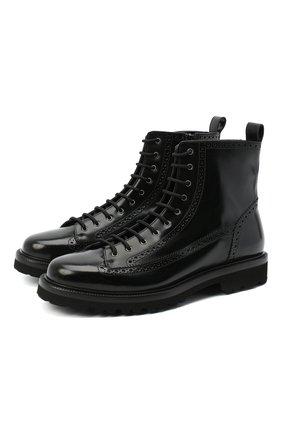 Мужские кожаные ботинки ALDO BRUE черного цвета, арт. AB5500K-CB.P.F84R   Фото 1