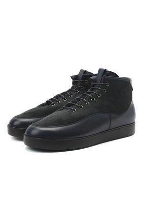 Мужские комбинированные ботинки W.GIBBS синего цвета, арт. 3050066/1785 | Фото 1