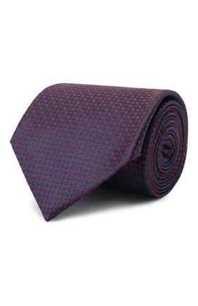 Мужской шелковый галстук BRIONI фиолетового цвета, арт. 062I00/09425 | Фото 1