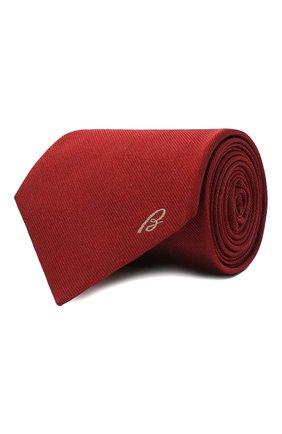Мужской шелковый галстук BRIONI красного цвета, арт. 062H00/0943C | Фото 1