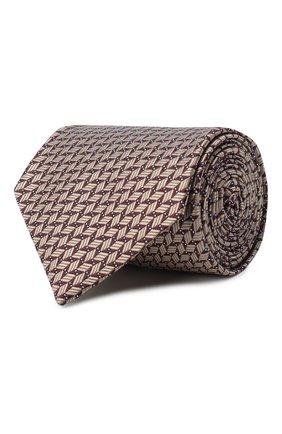 Мужской шелковый галстук BRIONI темно-коричневого цвета, арт. 062H00/09424 | Фото 1