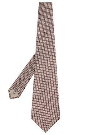 Мужской шелковый галстук BRIONI темно-коричневого цвета, арт. 062H00/09424 | Фото 2