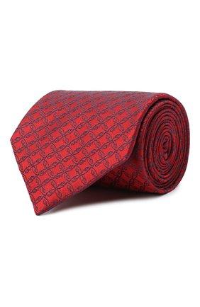 Мужской шелковый галстук BRIONI красного цвета, арт. 062H00/0842A | Фото 1