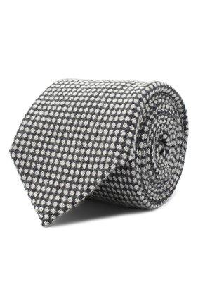 Мужской галстук из шелка и кашемира CANALI серого цвета, арт. 70/HX02934 | Фото 1
