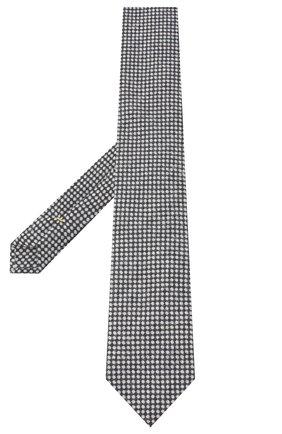 Мужской галстук из шелка и кашемира CANALI серого цвета, арт. 70/HX02934 | Фото 2