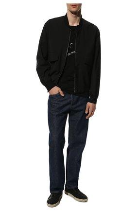 Мужские текстильные кеды court classic sl/06 SAINT LAURENT черного цвета, арт. 611106/GUP50 | Фото 2