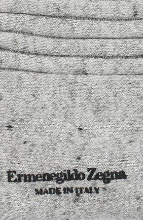 Мужские хлопковые носки ERMENEGILDO ZEGNA серого цвета, арт. N5V403390 | Фото 2