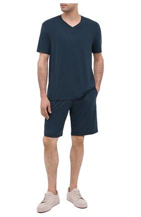 Мужская пижама ERMENEGILDO ZEGNA синего цвета, арт. N6H111040 | Фото 1