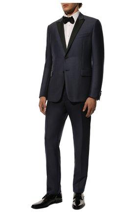 Мужской кожаные дерби DOLCE & GABBANA черного цвета, арт. A10597/AX651 | Фото 2