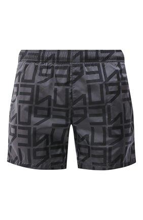 Детского плавки-шорты HUGO серого цвета, арт. 50437771   Фото 1
