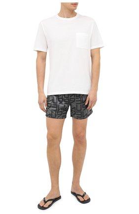 Детского плавки-шорты HUGO серого цвета, арт. 50437771   Фото 2