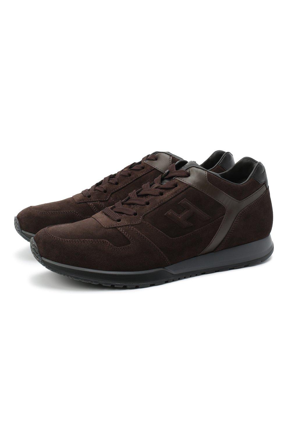 Мужские замшевые кроссовки HOGAN темно-коричневого цвета, арт. HXM3210Y8530ED | Фото 1