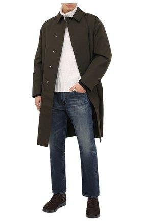 Мужские замшевые кроссовки HOGAN темно-коричневого цвета, арт. HXM3210Y8530ED | Фото 2