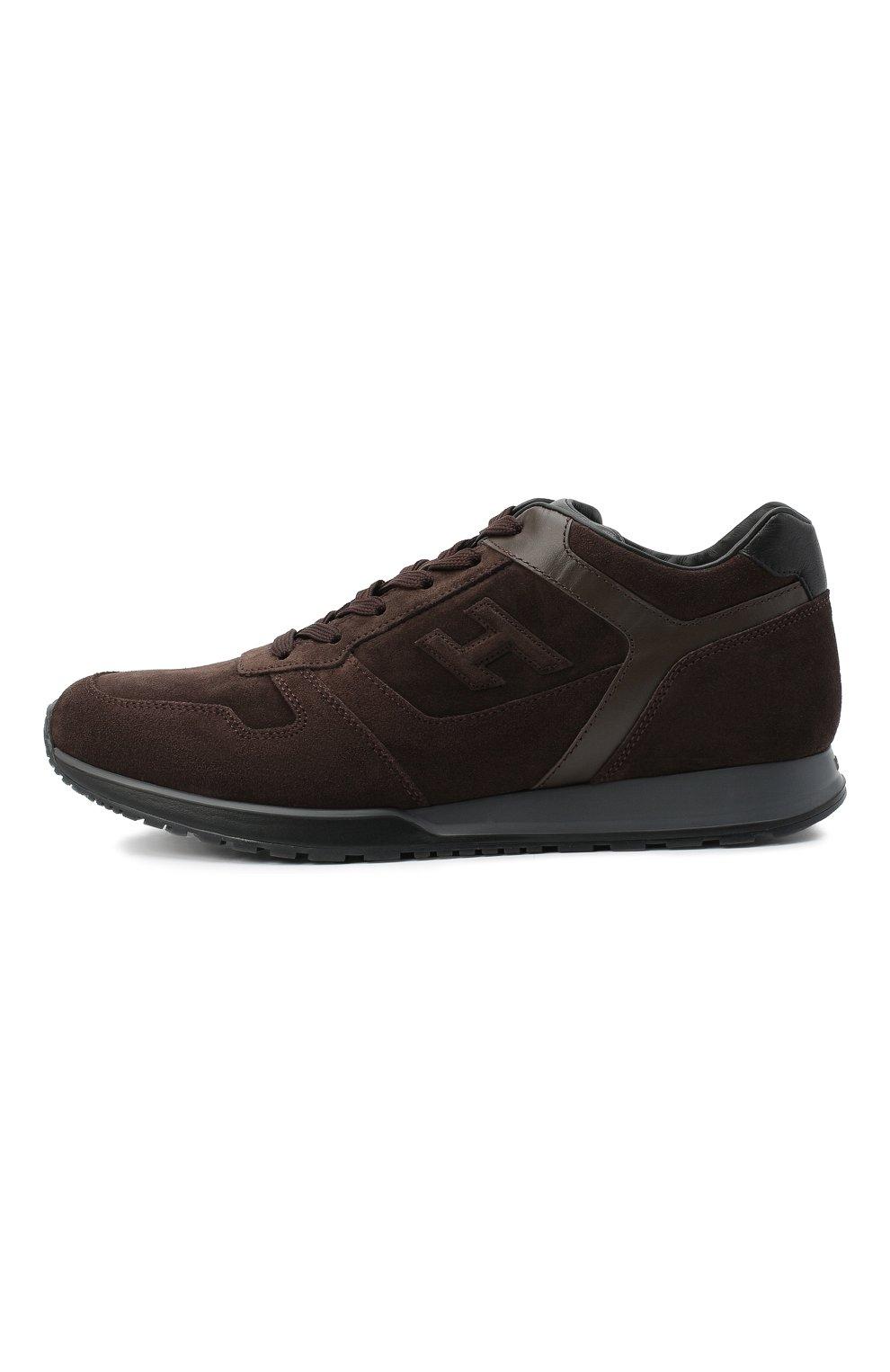 Мужские замшевые кроссовки HOGAN темно-коричневого цвета, арт. HXM3210Y8530ED | Фото 3