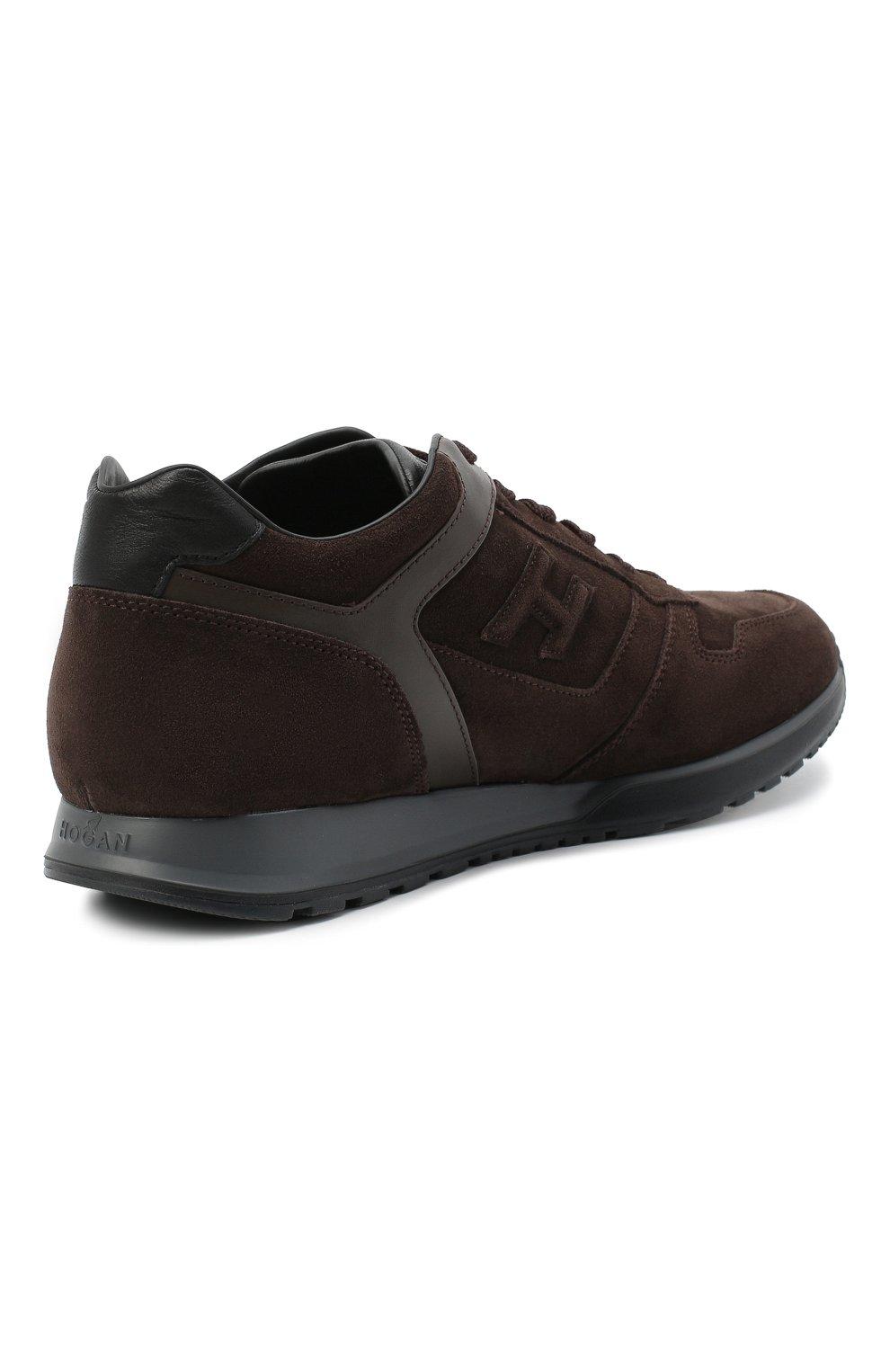 Мужские замшевые кроссовки HOGAN темно-коричневого цвета, арт. HXM3210Y8530ED | Фото 4