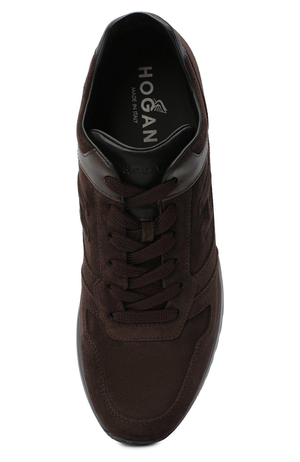 Мужские замшевые кроссовки HOGAN темно-коричневого цвета, арт. HXM3210Y8530ED | Фото 5