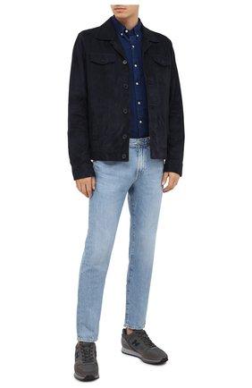 Мужские комбинированные кроссовки HOGAN серого цвета, арт. HXM3210Y8600HT | Фото 2