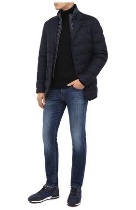 Мужские комбинированные кроссовки HOGAN темно-синего цвета, арт. HXM3830AN510C7 | Фото 2