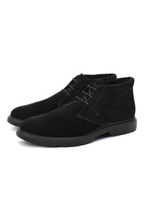 Мужские замшевые ботинки HOGAN черного цвета, арт. HXM3930W872HG0 | Фото 1