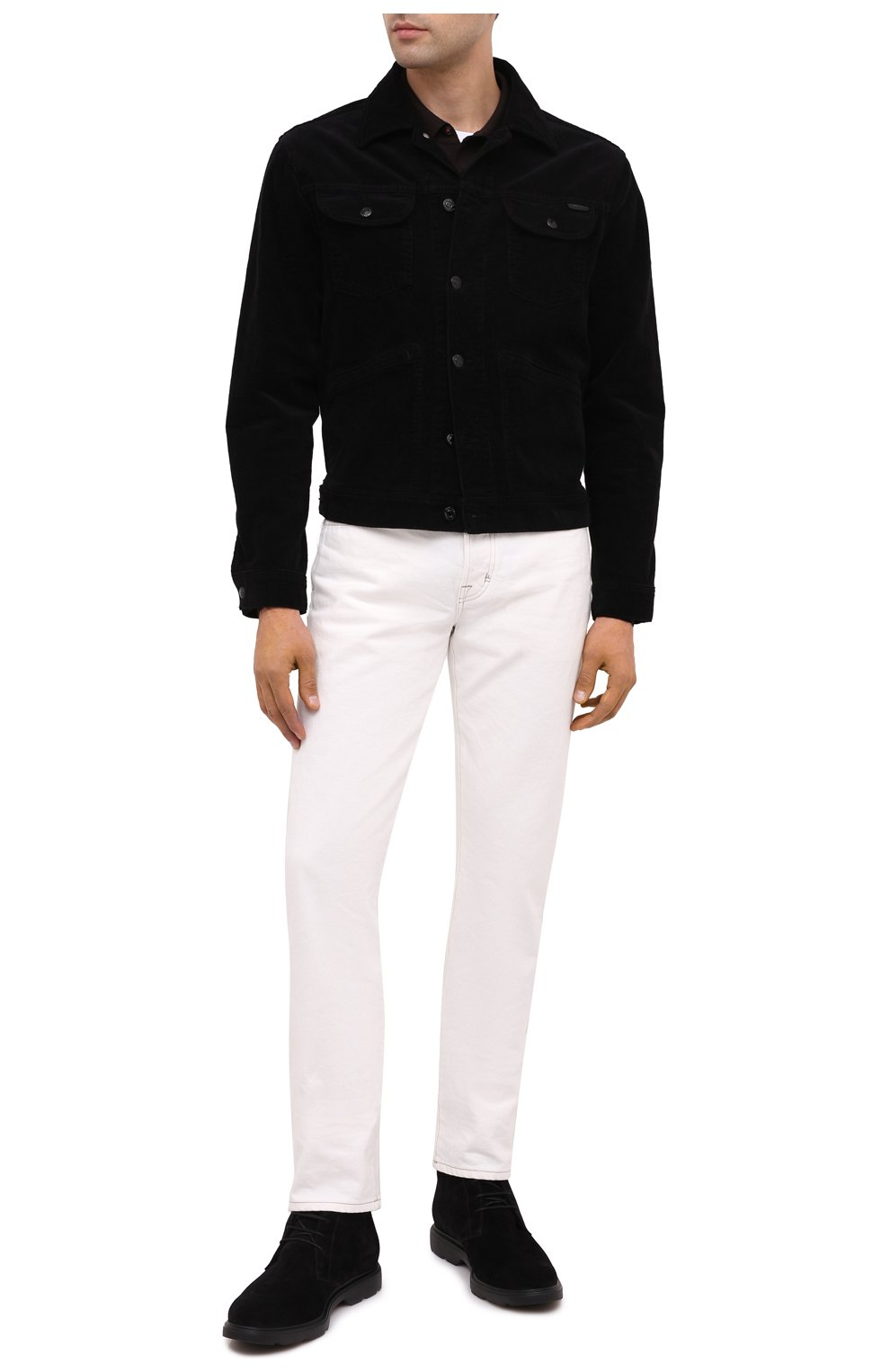 Мужские замшевые ботинки HOGAN черного цвета, арт. HXM3930W872HG0 | Фото 2